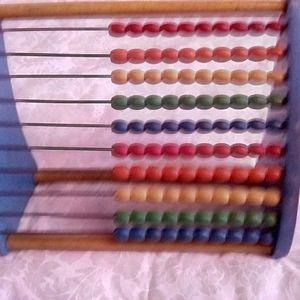 Vintage Abacus Wood Counting Tool/Toy